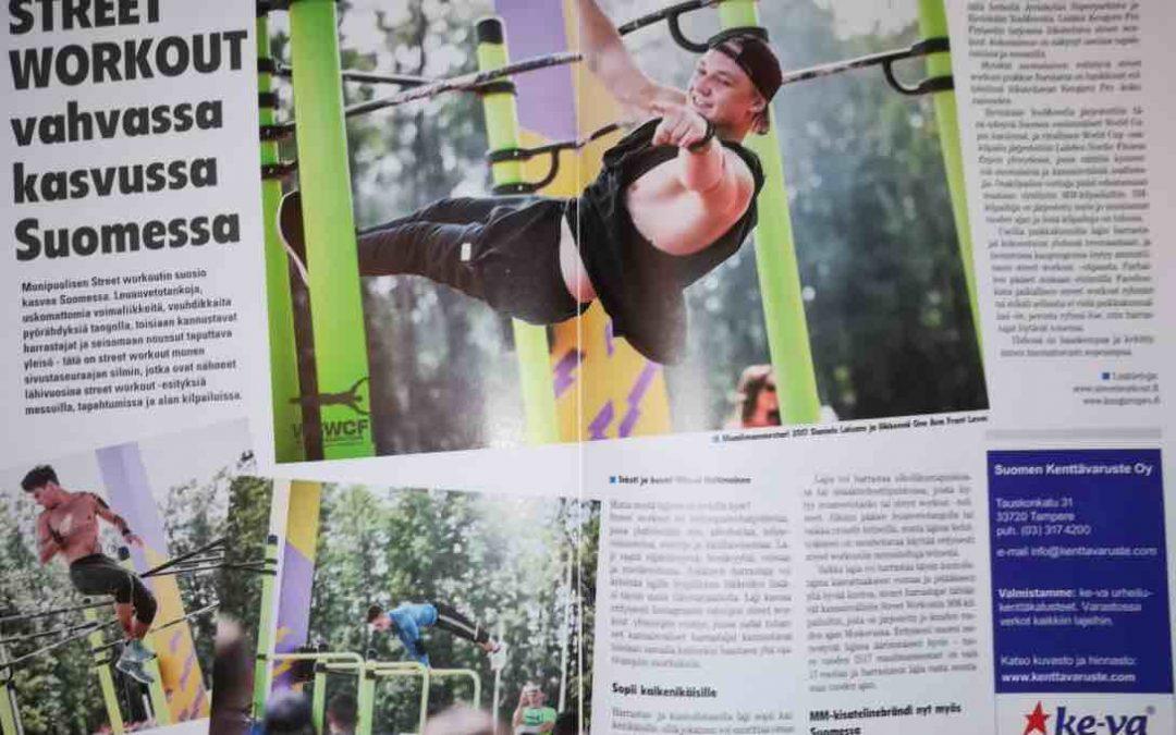 Liikunnan ammattilainen -lehdessä asiaa street workoutista!